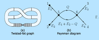 Two figures: a Twisted-fat graph and a Feynman diagram.